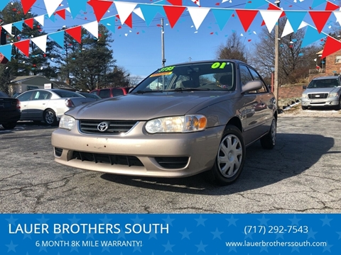 2001 Toyota Corolla for sale at LAUER BROTHERS SOUTH in York PA