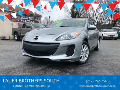 2012 Mazda MAZDA3 for sale at LAUER BROTHERS SOUTH in York PA