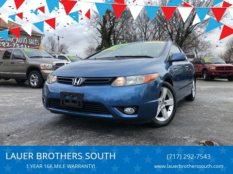 2006 Honda Civic for sale at LAUER BROTHERS SOUTH in York PA