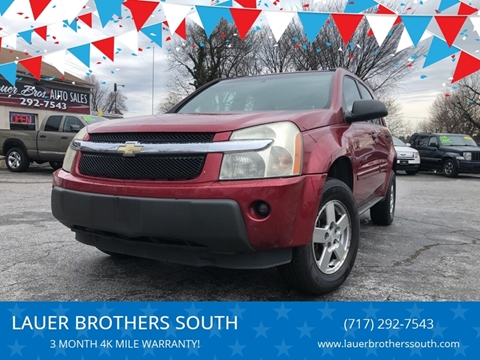 2005 Chevrolet Equinox for sale at LAUER BROTHERS SOUTH in York PA