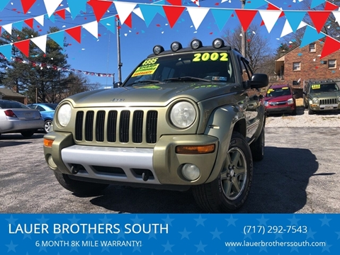 2002 Jeep Liberty for sale at LAUER BROTHERS SOUTH in York PA