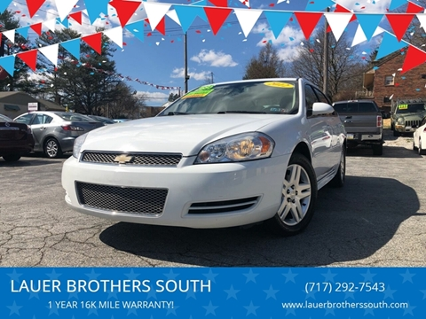 2012 Chevrolet Impala for sale at LAUER BROTHERS SOUTH in York PA