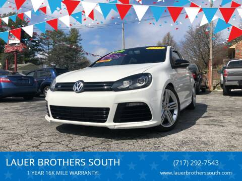 2012 Volkswagen Golf R for sale at LAUER BROTHERS SOUTH in York PA