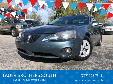 2006 Pontiac Grand Prix for sale at LAUER BROTHERS SOUTH in York PA