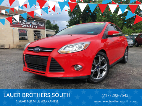2014 Ford Focus for sale at LAUER BROTHERS SOUTH in York PA