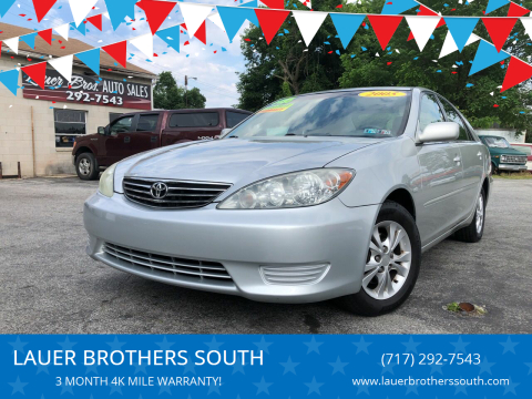 2005 Toyota Camry for sale at LAUER BROTHERS SOUTH in York PA