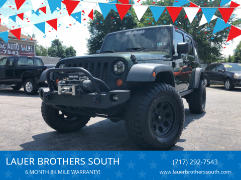 2007 Jeep Wrangler Unlimited for sale at LAUER BROTHERS SOUTH in York PA