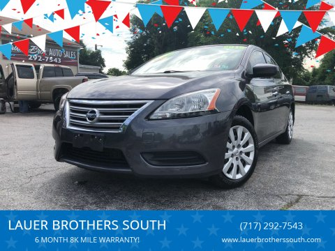 2015 Nissan Sentra for sale at LAUER BROTHERS SOUTH in York PA