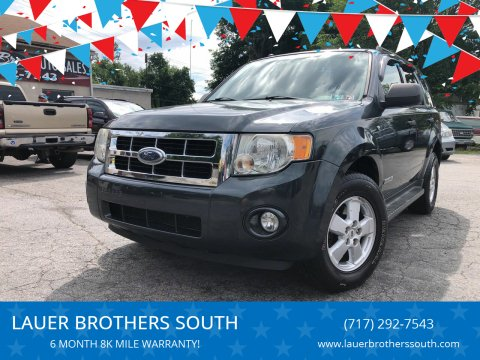2008 Ford Escape for sale at LAUER BROTHERS SOUTH in York PA