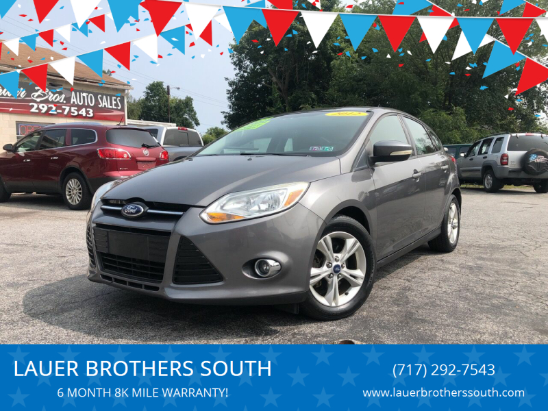 2012 Ford Focus for sale at LAUER BROTHERS SOUTH in York PA