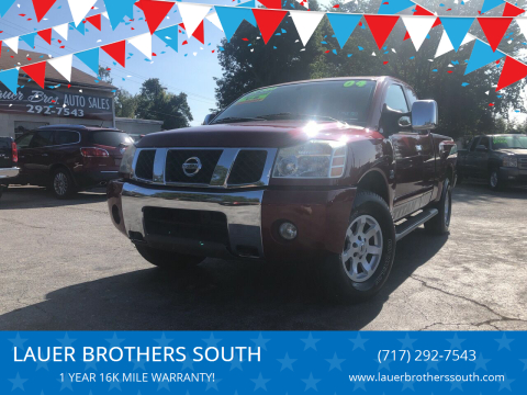 2004 Nissan Titan for sale at LAUER BROTHERS SOUTH in York PA