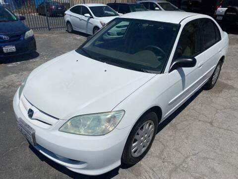 2004 Honda Civic for sale at 101 Auto Sales in Sacramento CA