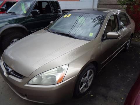2003 Honda Accord for sale at Aspen Auto Sales in Wayne MI