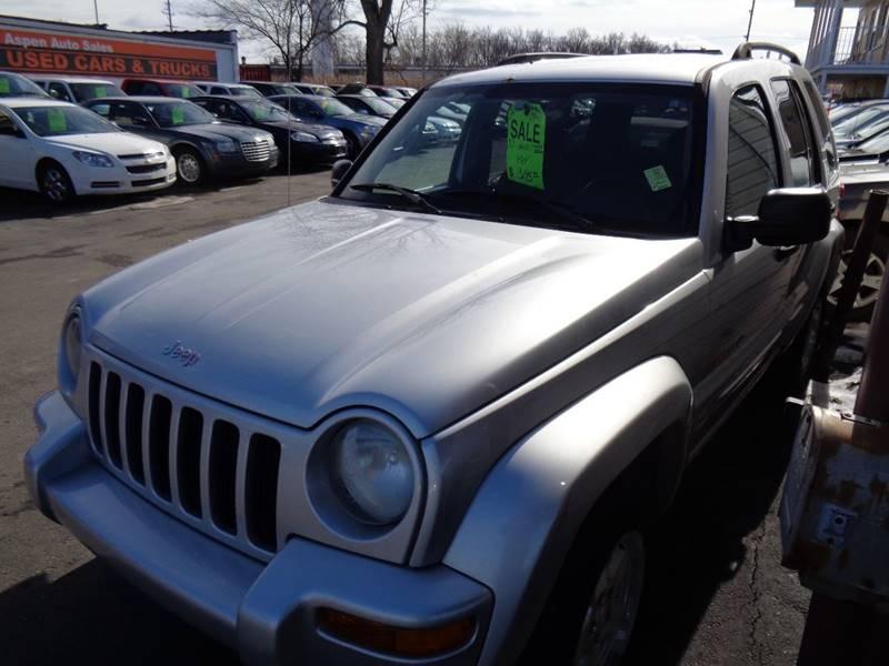 2003 Jeep Liberty For Sale At Aspen Auto Sales In Wayne MI