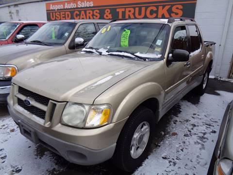 2001 Ford Explorer Sport Trac for sale at Aspen Auto Sales in Wayne MI