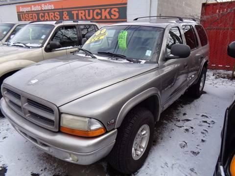 2000 Dodge Durango for sale at Aspen Auto Sales in Wayne MI