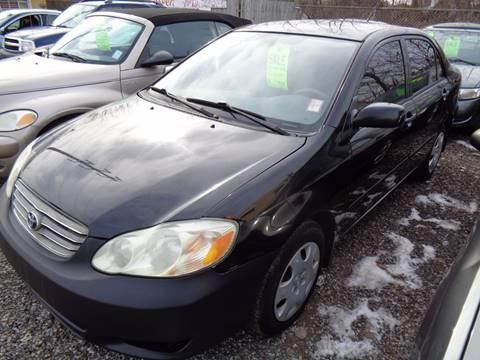 2003 Toyota Corolla for sale at Aspen Auto Sales in Wayne MI