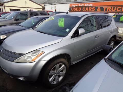 2006 Nissan Murano for sale at Aspen Auto Sales in Wayne MI