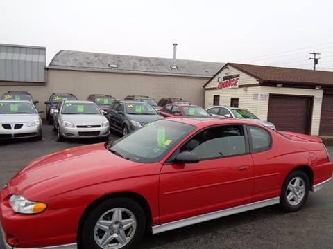 2003 Chevrolet Monte Carlo for sale at Aspen Auto Sales in Wayne MI
