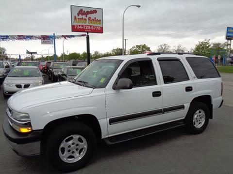 2004 Chevrolet Tahoe for sale at Aspen Auto Sales in Wayne MI