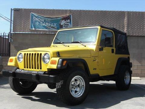 2001 Jeep Wrangler for sale in El Cajon, CA