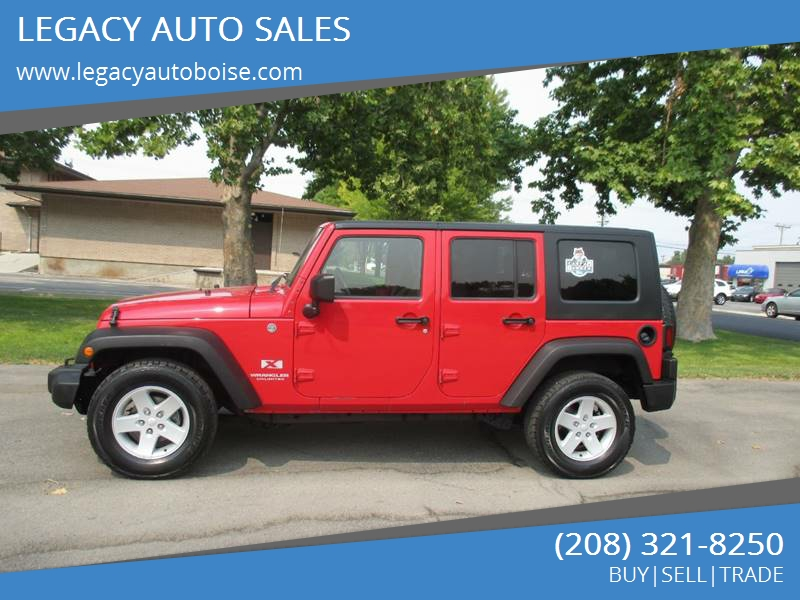2007 Jeep Wrangler Unlimited For Sale At LEGACY AUTO SALES In Boise ID
