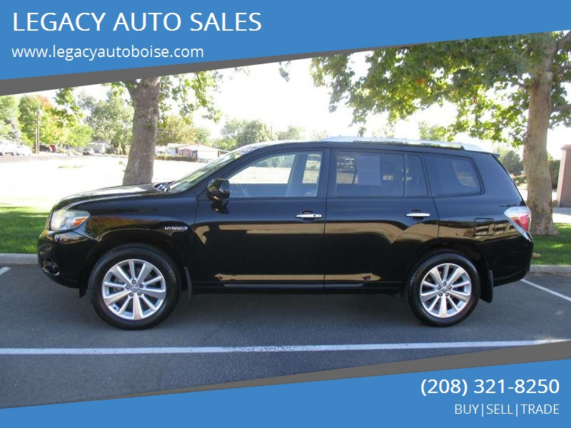 2008 Toyota Highlander Hybrid For Sale At LEGACY AUTO SALES In Boise ID