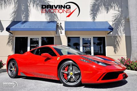 2015 Ferrari 458 Speciale for sale in Lake Park, FL
