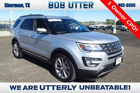 2017 Ford Explorer for sale in Sherman, TX
