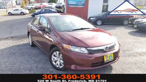 2012 Honda Civic for sale in Frederick, MD