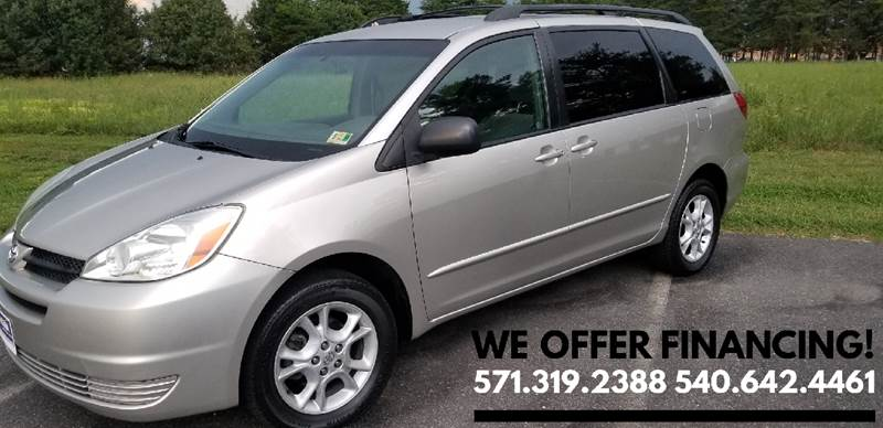 2004 Toyota Sienna For Sale At EED Auto Group In Fredericksburg VA