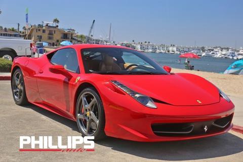 2011 Ferrari 458 Italia For Sale In Delaware Carsforsale