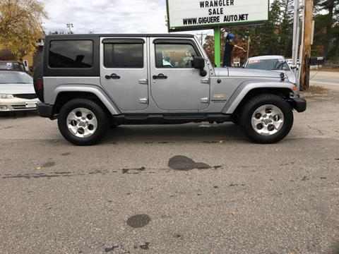 2015 Jeep Wrangler Unlimited for sale in Tilton, NH