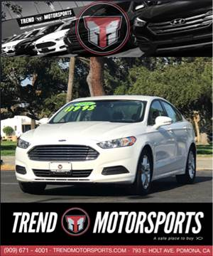 2016 Ford Fusion for sale at Trend Motorsports in Pomona CA