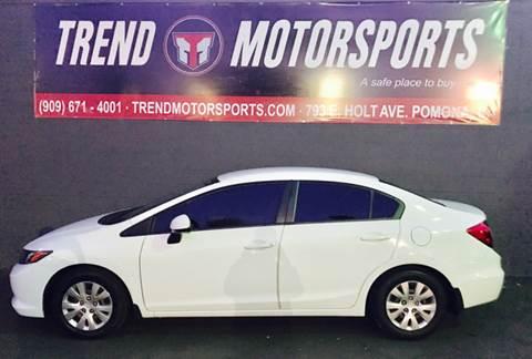 2012 Honda Civic for sale at Trend Motorsports in Pomona CA