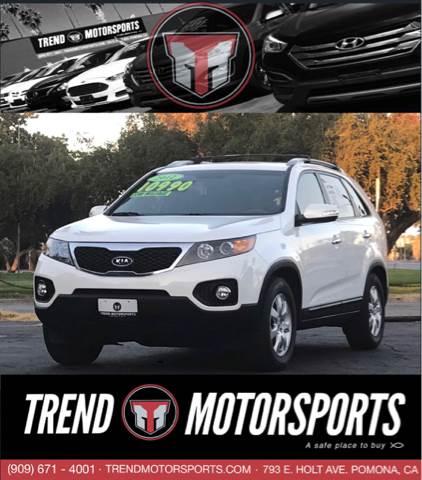 2012 Kia Sorento for sale at Trend Motorsports in Pomona CA