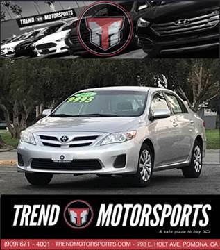 2012 Toyota Corolla for sale at Trend Motorsports in Pomona CA