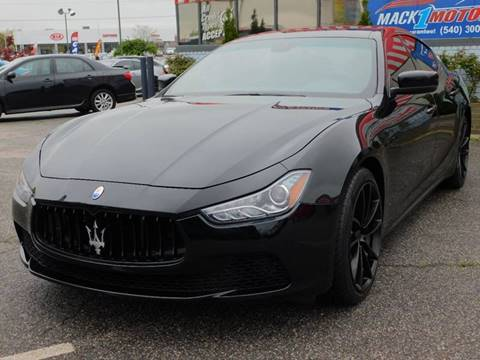 2014 Maserati Ghibli for sale at Mack 1 Motors in Fredericksburg VA