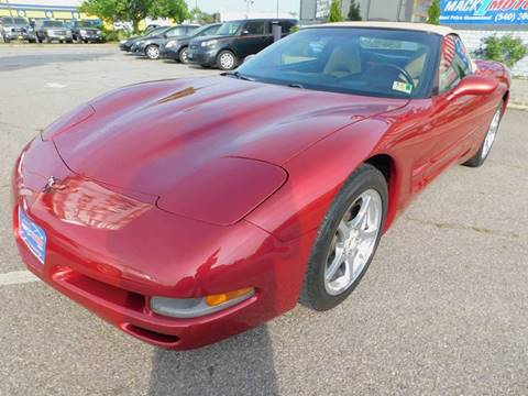 2002 Chevrolet Corvette for sale at Mack 1 Motors in Fredericksburg VA