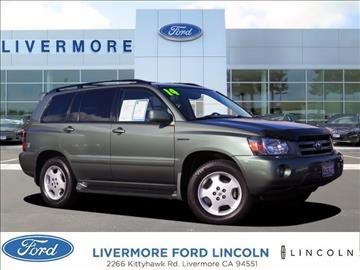 2004 Toyota Highlander for sale in Livermore, CA