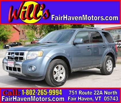 2010 Ford Escape for sale in Fair Haven, VT