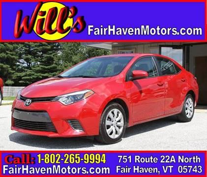 2016 Toyota Corolla for sale in Fair Haven, VT