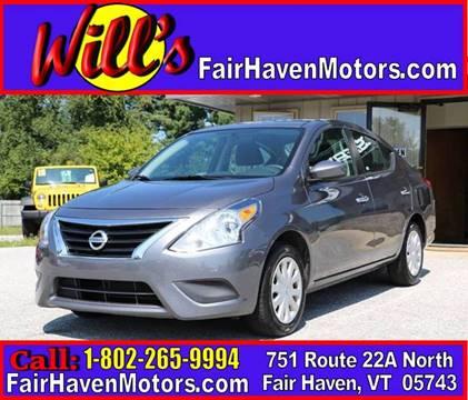 2016 Nissan Versa for sale in Fair Haven, VT