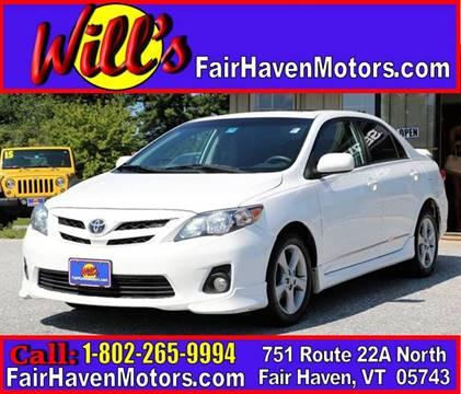 2012 Toyota Corolla for sale in Fair Haven, VT