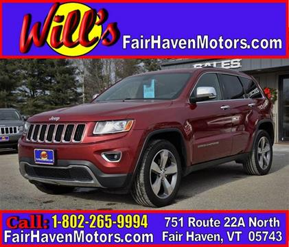 2014 Jeep Grand Cherokee for sale in Fair Haven, VT