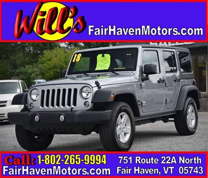 2018 Jeep Wrangler Unlimited for sale in Fair Haven, VT