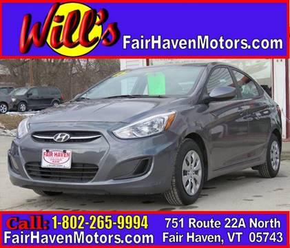 2015 Hyundai Accent for sale in Fair Haven, VT