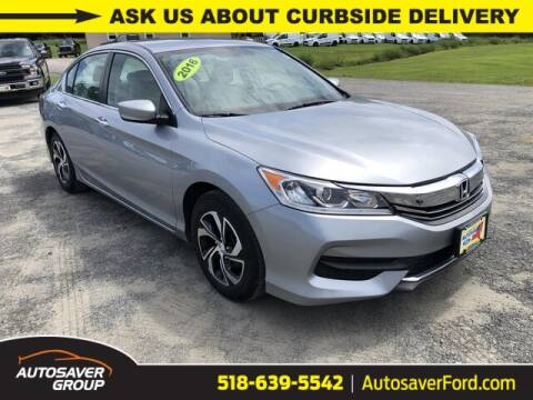 2016 Honda Accord for sale at Autosaver Ford in Comstock NY