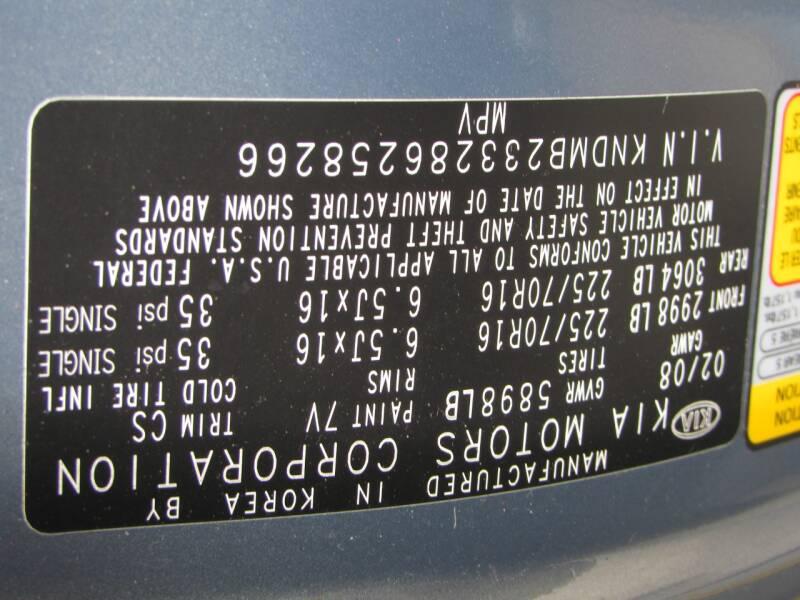 2008 Kia Sedona LX 4dr Mini-Van LWB - Lakeland FL