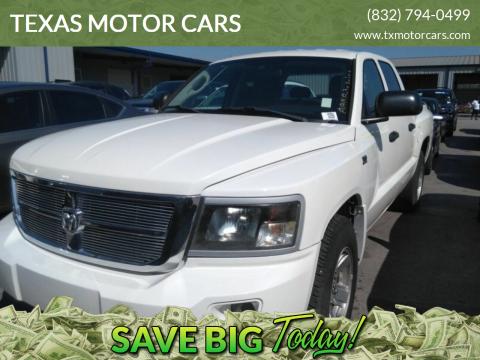 2009 Dodge Dakota for sale at TEXAS MOTOR CARS in Houston TX